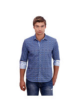 Punctuate Achtung Polka Fashion Casual Shirt, multicolor, s