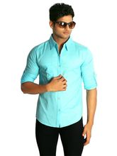 Nick And Jess Mens Shirt - MSFS076CE, 42, blue