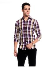 Good Karma Cotton Men Casual Shirt - MFCS5011, s, multicolor