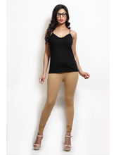 Design Classics Women Leggings - DCS098, l, tan