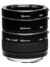 Kenko DG Extension Tubes 12mm,20mm And 36mm For Canon (Black)