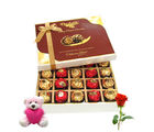 Chocholik Cheerful Surprise To Your Friend With Teddy And Rose - Luxury Chocolates