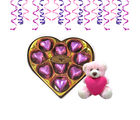 Chocholik's Classic Heart Shape Nicely Decorated Chocolates With Holding Heart Teddy