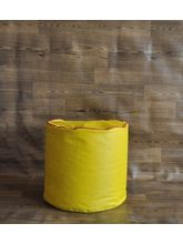 Style Homez Round Piping Ottoman Bean Bag Cover, yellow, l