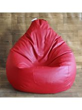 Style Homez Fancy Classic Filled Bean Bag, red, xxl