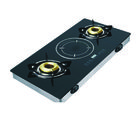 Padmini Hybrid (2 Burners and 1 Induction Cooking System) Gas Stove, black