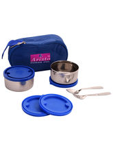 Aristo 250 ml Lunch pack with Blue Insulated bag, silver