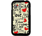 Casotec Love Hearts Design 2D Hard Back Case Cover for Samsung Galaxy Y S5360