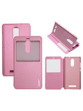 Casotec Premium Caller-id Flip Case Cover With Stand for Xiaomi Redmi Note 3 - Baby Pink
