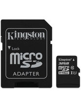 Kingston 32GB microSDHC Class 10 UHS-I Memory Card with Adapter