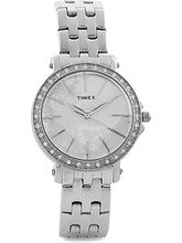 Timex Grey Dial And Silver Strap Analog Watch For Women - J500
