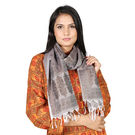 Rivayat Grey Polyester Women Scarf, grey