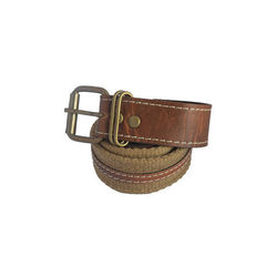 Renz Men s Canvas Stylish Belt,  brown, 30