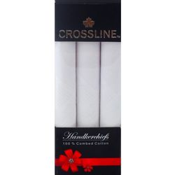 Crossline Men s Handkerchief PO3, white