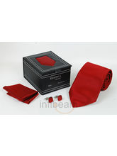 Necktie Gift Set Leatheritte Packing (Red)