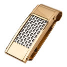 Inox Jewelry Gold Stainless Steel Car Grille Patterned Money Clip