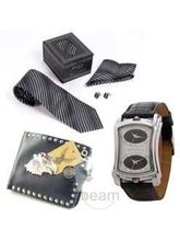 Necktie + Watch + Wallet (Multicolor)