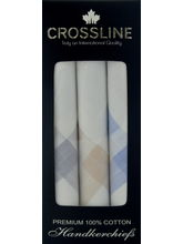 Crossline Men's Handkerchief PO3, white