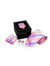 Necktie Gift Set In Leatheritte Packing Necktie (Multicolor)