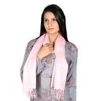 Rivayat Classic Silk Carry Women Scarf,  pink