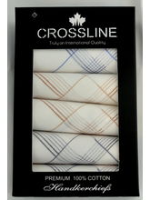 Crossline Men's Handkerchief PO6, white