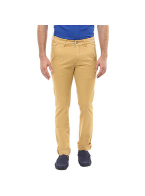 Spykar Cross Pocket Slim Fit Trouser, 38,  khaki