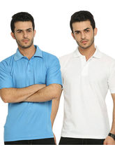 Lime Offers Combo of 2 Men's Polo T-Shirts, xxl, multicolor