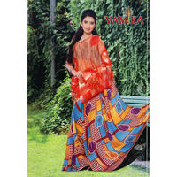 Vamika Attractive Chiffon Saree - VMS0048, multicolor