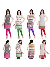 Trendbend Combo of 4 Cotton Kurtis, multicolor, xl