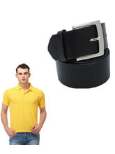Lime offers Combo of Polo T Shirt & Belt For Men, yellow, xxl
