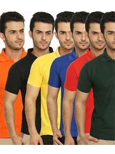 Lime Offers Combo of 6 Men's Polo T-Shirts, xxl, multicolor