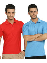 Lime Offers Combo of 2 Men's Polo T-Shirts, m, multicolor