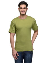 Urban Glory Men's 100% Cotton Solid T-Shirt, green, s