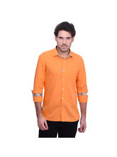 Punctuate Bootstrap Business Casual Shirt, orange, m