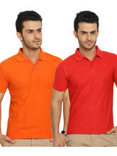 Lime Offers Combo of 2 Men's Polo T-Shirts, xl, multicolor