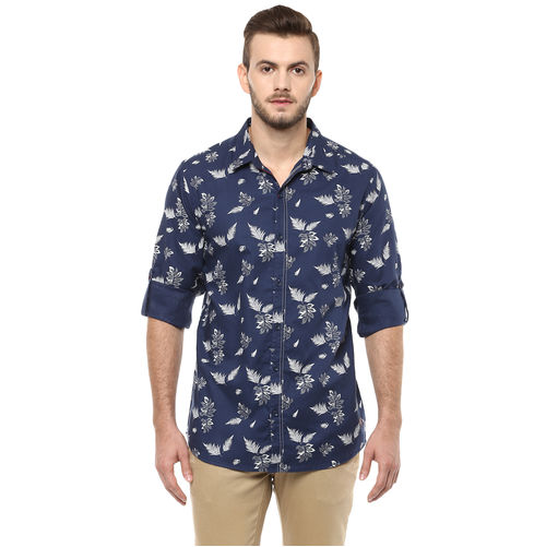 Spykar Printed Regular Slim Fit Shirt