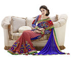 Mahotsav Party Wear Lehenga Saree, blue and rust