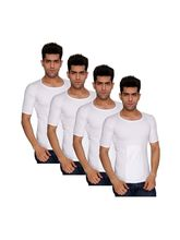 Nitlon Classic SPRNS Vest (Pack of 4), s, white