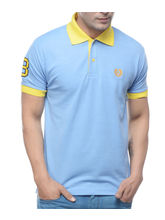 Sobre Estilo Men Muscle Fit Polo T-Shirt - WV0013390, sky blue, l