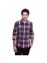Punctuate Xenogenic Titian Everyday Casual Shirt, red, xxl