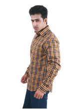 ShopperTree Yarn Dyed Yellow Check Shirt - ST1275, l