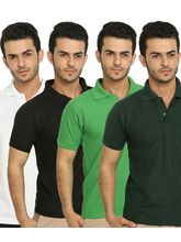 Lime Offers Combo of 4 Men's Polo T-Shirts, multicolor, s