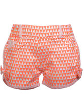 Lil Poppets Fluro Shorts with Bow for Girls, orange, 2
