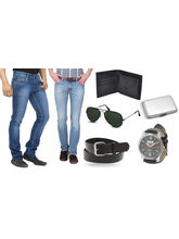 Fun Tree Pack of 2 Denim With Mens Accessories, 36
