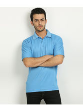 Fundoo T Men's Polo T-shirt, sky blue, xxl