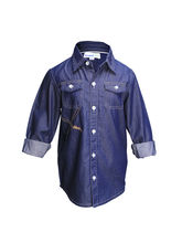 ShopperTree Silk Denim Shirt, 2 3y, blue