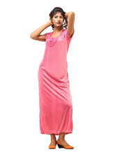 Desiharem Satin Long Robe For Women, pink