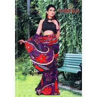 Vamika Attractive Chiffon Saree - VMS0035, multicolor