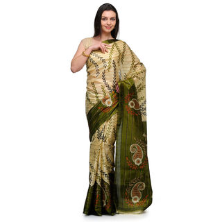 Studio Shubham Printed Art Silk Saree, beige