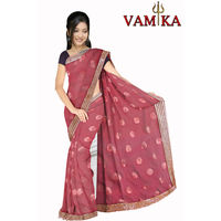 Vamika Attractive Art Silk Saree - VMS0077, maroon